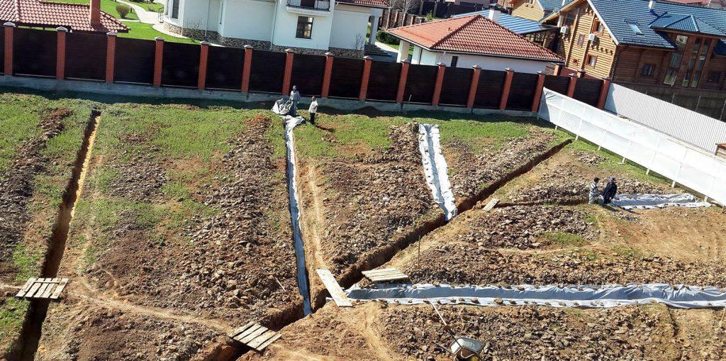 сделать дренаж грунтовых вод участка