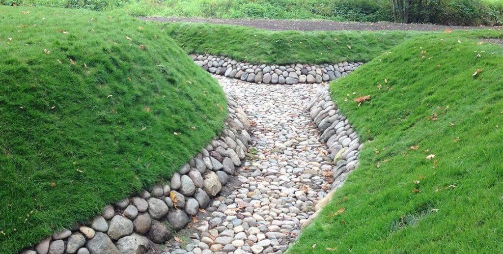 укрепление дренажной канавы