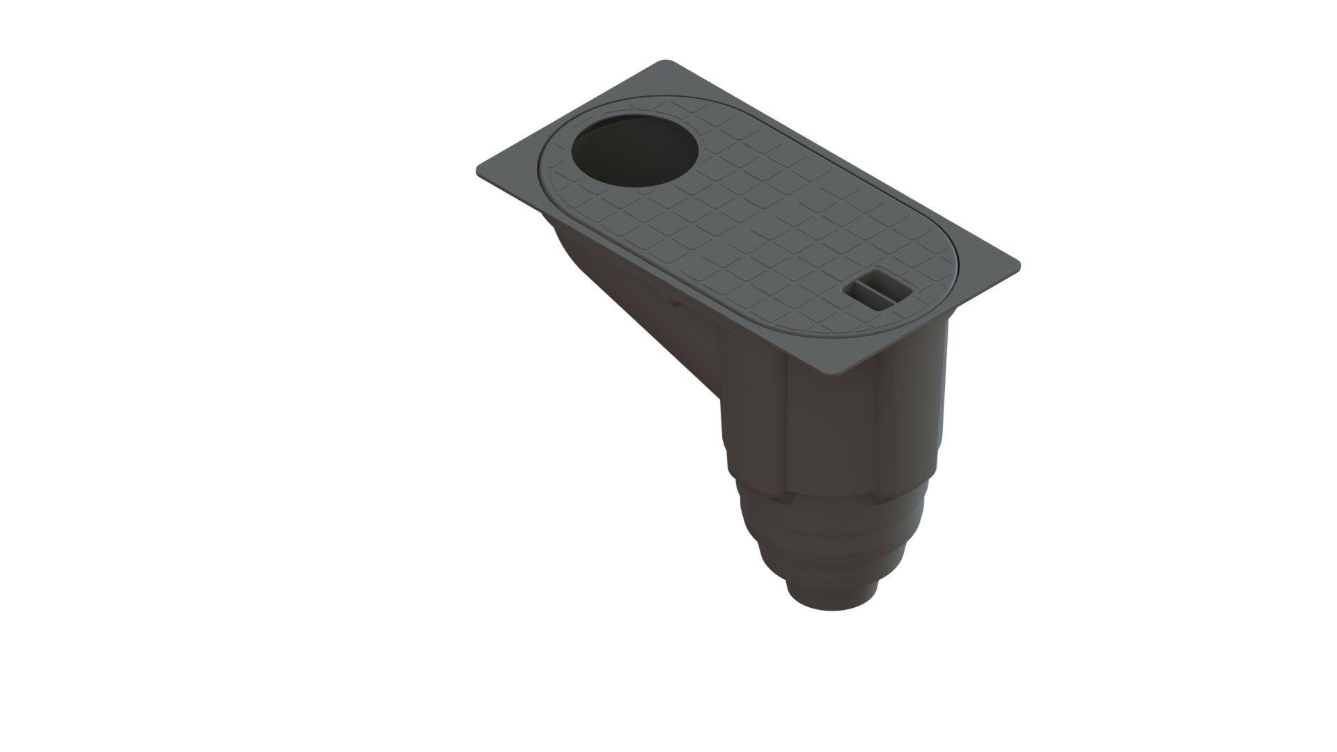 Бокс водосточный PolyMax Basic с вертикальным отводом